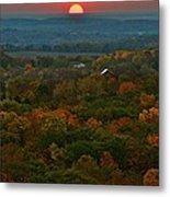 Sunrise From Atop Metal Print