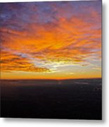 Sunrise From The Airplane Metal Print