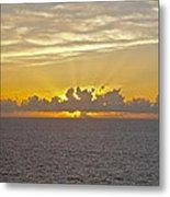 Sunrise From The Ship Metal Print
