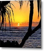Sunrise Fuji Beach Kauai Metal Print