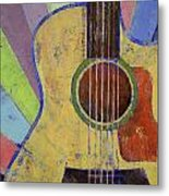 Sunrise Guitar Metal Print by Michael Creese