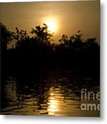 Sunrise In Amazon Metal Print