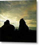 Sunrise In Arches National Park Metal Print