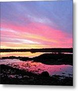 Sunrise In Maine Metal Print
