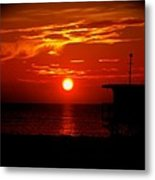 Sunrise In Miami Beach Metal Print