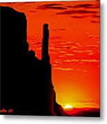 Sunrise In Monument Valley Metal Print