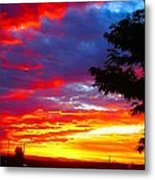 Sunrise In New Mexico Metal Print