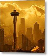 Sunrise In Seattle Metal Print