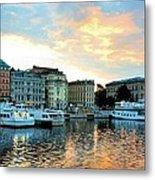 Sunrise In Stockholm Metal Print