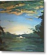 Sunrise  In Tanon Strait Metal Print