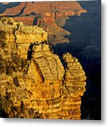 Sunrise In The Canyon Metal Print