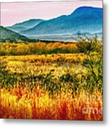 Sunrise In Verde Valley Arizona Metal Print