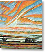 Sunrise Les Eboulements Quebec Metal Print