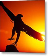 Sunrise Liftoff Golden Eagle Threatened Species Metal Print