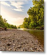 Sunrise Light On Buffalo River Metal Print