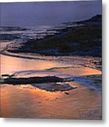 Sunrise Lower Geyser Basin Metal Print