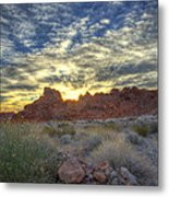 Sunrise Of Fire Metal Print