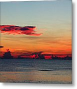 Sunrise On A Cloudy Morn Metal Print
