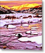 Sunrise On A Cold Day Metal Print