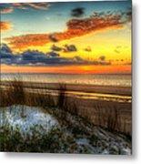 Sunrise On A Jekyll Island Dune Metal Print