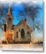 Sunrise On A Rural Church 04 Metal Print