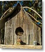 Sunrise On Birdhouse Homestead Metal Print