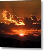 Sunrise On Fire Metal Print