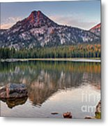 Sunrise On Gunsight Mountain Metal Print
