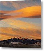 Sunrise On Lenticular Clouds Metal Print