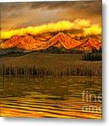 Sunrise On Little Redfish Lake Metal Print