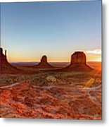 Sunrise On Monument Valley Metal Print