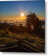 Sunrise On Mount Mitchell Metal Print