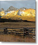 Sunrise On Sawtooth Mountains Idaho Metal Print