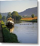 Sunrise On The Burgundy Canal Metal Print