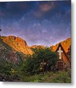Sunrise On The Chapel Metal Print by Aaron Bedell