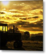 Sunrise On The Deere Metal Print