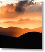 Sunrise On The Hills Metal Print