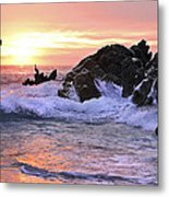 Sunrise On The Horizon Metal Print
