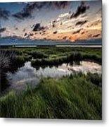 Sunrise On The Marsh Metal Print