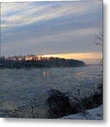 Sunrise On The Missouri River Metal Print
