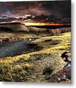 Sunrise On The Pawnee Grasslands Metal Print by Ric Soulen
