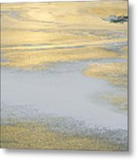 Sunrise On The River Ice Metal Print