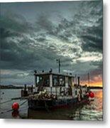 Sunrise On The River Taw Metal Print