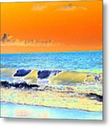 Sunrise On Tybee Island - Photopower 168 Metal Print