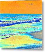 Sunrise On Tybee Island - Photopower 170 Metal Print