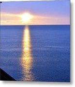 Sunrise On Whitefish Bay Metal Print