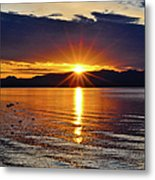 Sunrise On Yellowstone Lake Metal Print