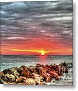 Sunrise Over Breech Inlet On Sullivan's Island Sc Metal Print