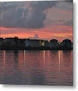 Sunrise Over Cape Fear River Metal Print