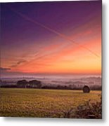 Sunrise Over Cornwall Metal Print by Christine Smart